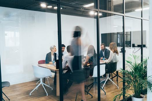 Group of people meeting in an office