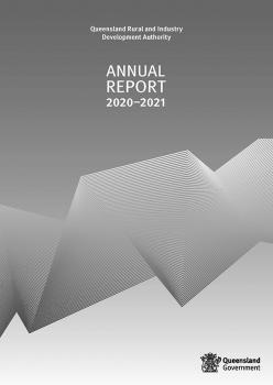 Front cover of QRIDA Annual Report 2020-2021